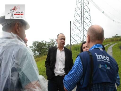 Secretário de Meio Ambiente de Itaguaí Hamilton Medeiros e representante do INEA