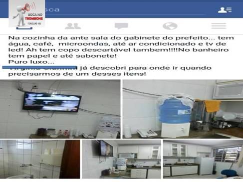 Servidor registra a cozinha da ante sala do prefeito, onde diferente das unidades de saúde não falta nada.