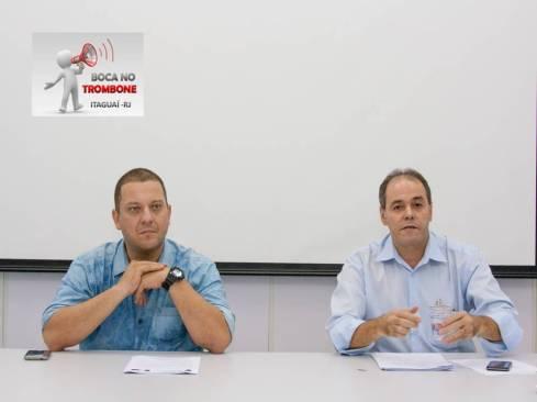Da esquerda para à direita secretário de Transportes e Trânsito, Alexander Florentino e Wilson Ribeiro, diretor de Serviços Cedidos, órgão ligado à SMTT