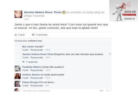 Moradores assustados relatam no grupo BOCA NO TROMBONE no Facebook os tiros ouvidos