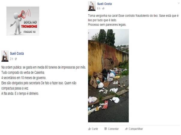 A ex ouvidora relata que há problemas no contrato da empresa coletora de lixo com a prefeitura