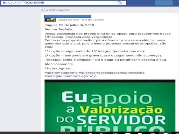 Servidores se revoltaram nas redes sociais