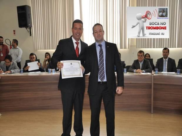 Da esquerda para à direita, vice-prefeito Abeilard Goulart de Souza